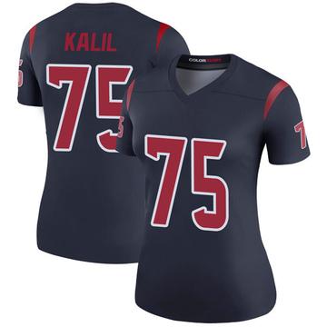 Women's Nike Houston Texans Matt Kalil Navy Color Rush Jersey - Legend