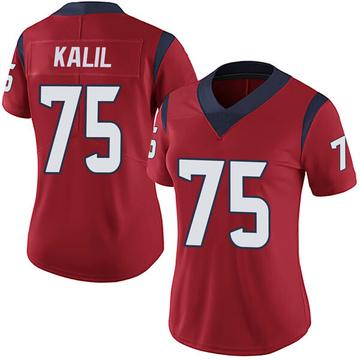 Women's Nike Houston Texans Matt Kalil Red Alternate Vapor Untouchable Jersey - Limited