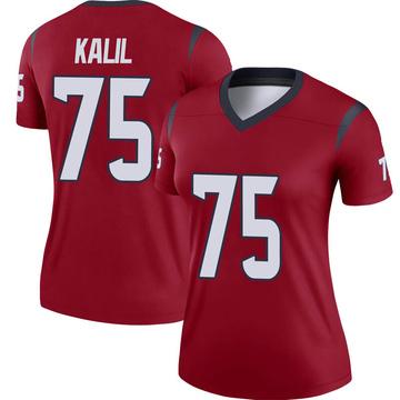 Women's Nike Houston Texans Matt Kalil Red Jersey - Legend
