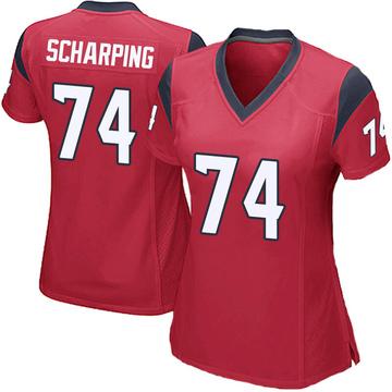 Women's Nike Houston Texans Max Scharping Red Alternate Jersey - Game