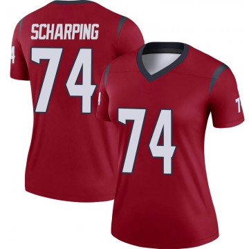 Women's Nike Houston Texans Max Scharping Red Jersey - Legend