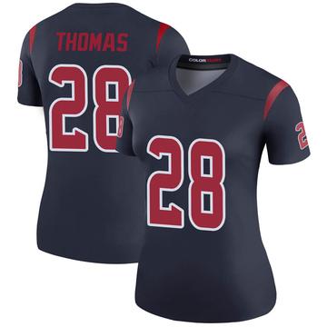 Women's Nike Houston Texans Michael Thomas Navy Color Rush Jersey - Legend