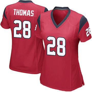 Women's Nike Houston Texans Michael Thomas Red Alternate Jersey - Game