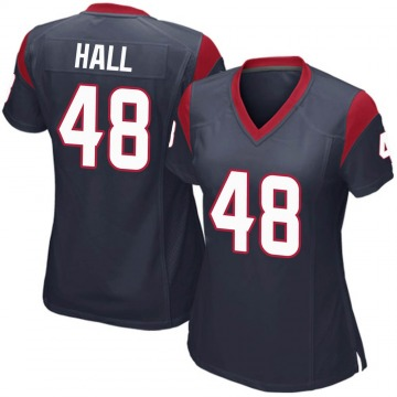 Women's Nike Houston Texans Nate Hall Navy Blue Team Color Jersey - Game
