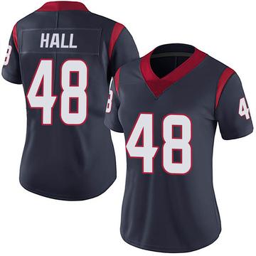 Women's Nike Houston Texans Nate Hall Navy Blue Team Color Vapor Untouchable Jersey - Limited
