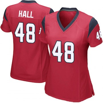 Women's Nike Houston Texans Nate Hall Red Alternate Jersey - Game