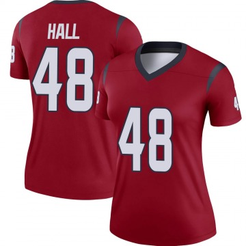 Women's Nike Houston Texans Nate Hall Red Jersey - Legend