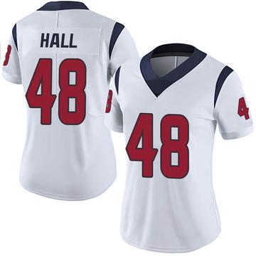 Women's Nike Houston Texans Nate Hall White Vapor Untouchable Jersey - Limited