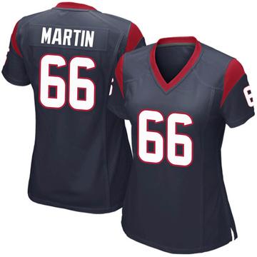 Women's Nike Houston Texans Nick Martin Navy Blue Team Color Jersey - Game