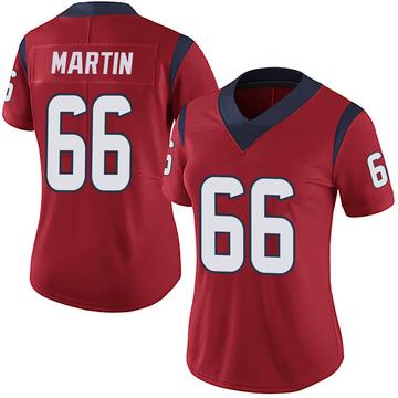 Women's Nike Houston Texans Nick Martin Red Alternate Vapor Untouchable Jersey - Limited
