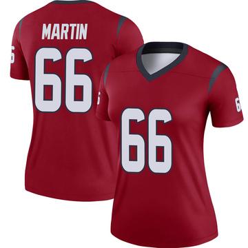 Women's Nike Houston Texans Nick Martin Red Jersey - Legend