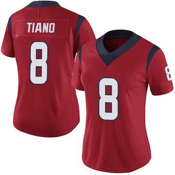 Women's Nike Houston Texans Nick Tiano Red Alternate Vapor Untouchable Jersey - Limited