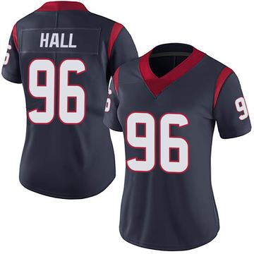 Women's Nike Houston Texans P.J. Hall Navy 100th Vapor Jersey - Limited