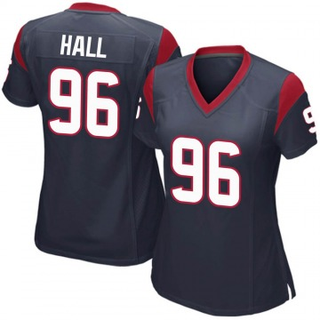 Women's Nike Houston Texans P.J. Hall Navy Blue Team Color Jersey - Game