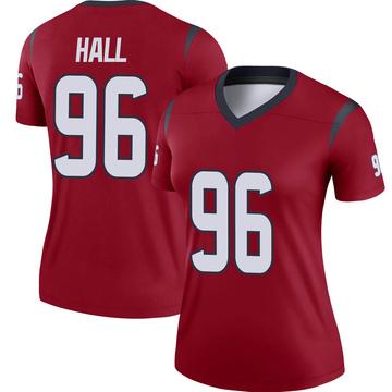 Women's Nike Houston Texans P.J. Hall Red Jersey - Legend