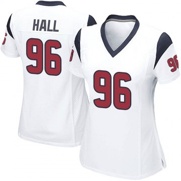 Women's Nike Houston Texans P.J. Hall White Jersey - Game