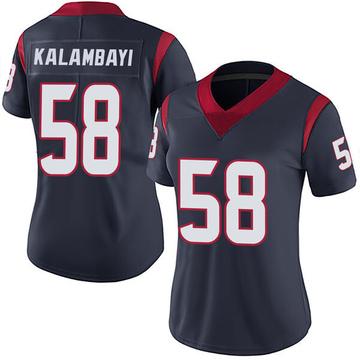 Women's Nike Houston Texans Peter Kalambayi Navy Blue Team Color Vapor Untouchable Jersey - Limited