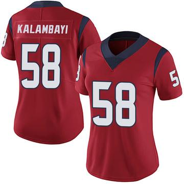 Women's Nike Houston Texans Peter Kalambayi Red Alternate Vapor Untouchable Jersey - Limited