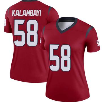 Women's Nike Houston Texans Peter Kalambayi Red Jersey - Legend