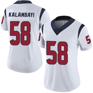 Women's Nike Houston Texans Peter Kalambayi White Vapor Untouchable Jersey - Limited