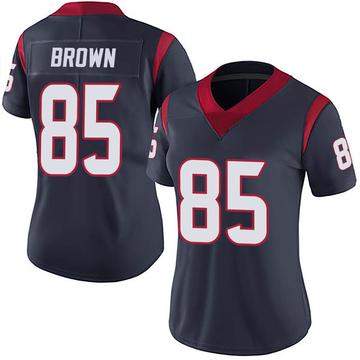 Women's Nike Houston Texans Pharaoh Brown Navy 100th Vapor Jersey - Limited