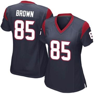 Women's Nike Houston Texans Pharaoh Brown Navy Blue Team Color Jersey - Game
