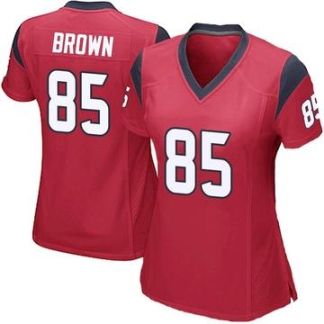 Women's Nike Houston Texans Pharaoh Brown Red Alternate Jersey - Game