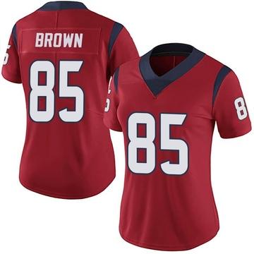 Women's Nike Houston Texans Pharaoh Brown Red Alternate Vapor Untouchable Jersey - Limited