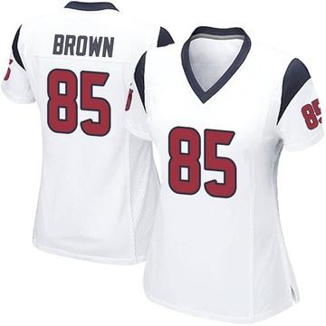 Women's Nike Houston Texans Pharaoh Brown White Jersey - Game