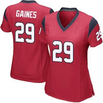 Women's Nike Houston Texans Phillip Gaines Red Alternate Jersey - Game