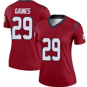 Women's Nike Houston Texans Phillip Gaines Red Jersey - Legend