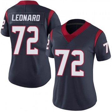 Women's Nike Houston Texans Rick Leonard Navy 100th Vapor Jersey - Limited