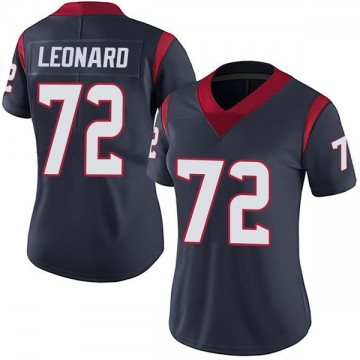 Women's Nike Houston Texans Rick Leonard Navy Blue Team Color Vapor Untouchable Jersey - Limited