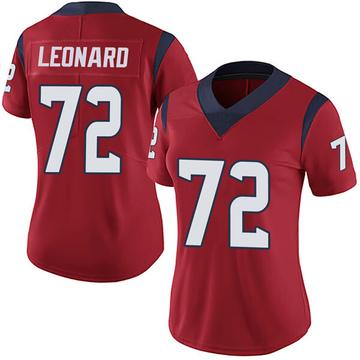 Women's Nike Houston Texans Rick Leonard Red Alternate Vapor Untouchable Jersey - Limited