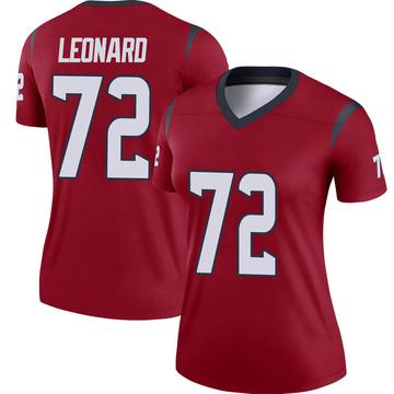 Women's Nike Houston Texans Rick Leonard Red Jersey - Legend