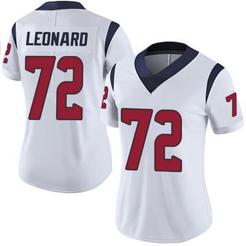 Women's Nike Houston Texans Rick Leonard White Vapor Untouchable Jersey - Limited