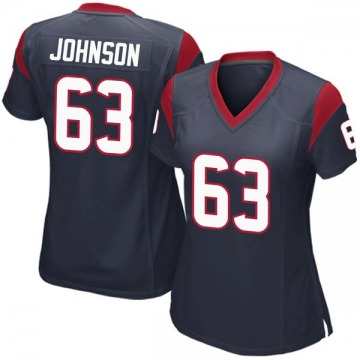 Women's Nike Houston Texans Roderick Johnson Navy Blue Team Color Jersey - Game