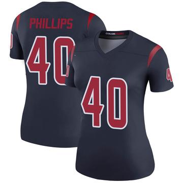 Women's Nike Houston Texans Scottie Phillips Navy Color Rush Jersey - Legend