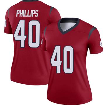 Women's Nike Houston Texans Scottie Phillips Red Jersey - Legend
