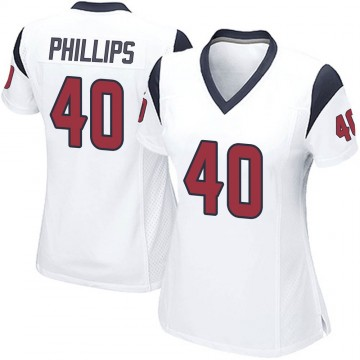 Women's Nike Houston Texans Scottie Phillips White Jersey - Game