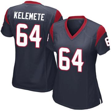 Women's Nike Houston Texans Senio Kelemete Navy Blue Team Color Jersey - Game
