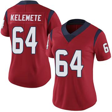 Women's Nike Houston Texans Senio Kelemete Red Alternate Vapor Untouchable Jersey - Limited
