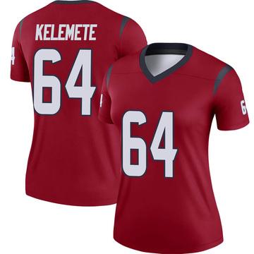 Women's Nike Houston Texans Senio Kelemete Red Jersey - Legend