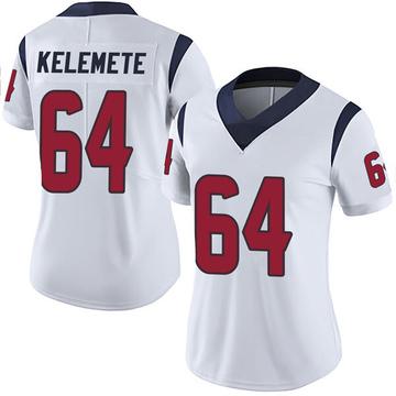 Women's Nike Houston Texans Senio Kelemete White Vapor Untouchable Jersey - Limited