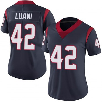 Women's Nike Houston Texans Shalom Luani Navy 100th Vapor Jersey - Limited