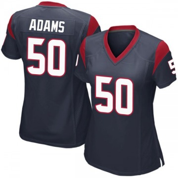 Women's Nike Houston Texans Tyrell Adams Navy Blue Team Color Jersey - Game