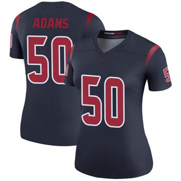 Women's Nike Houston Texans Tyrell Adams Navy Color Rush Jersey - Legend