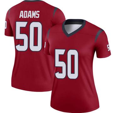 Women's Nike Houston Texans Tyrell Adams Red Jersey - Legend