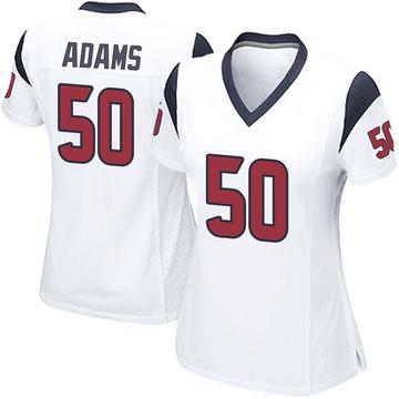 Women's Nike Houston Texans Tyrell Adams White Jersey - Game
