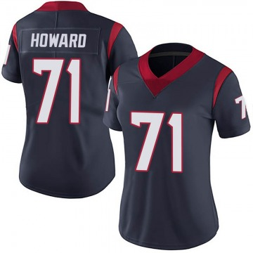 Women's Nike Houston Texans Tytus Howard Navy Blue Team Color Vapor Untouchable Jersey - Limited